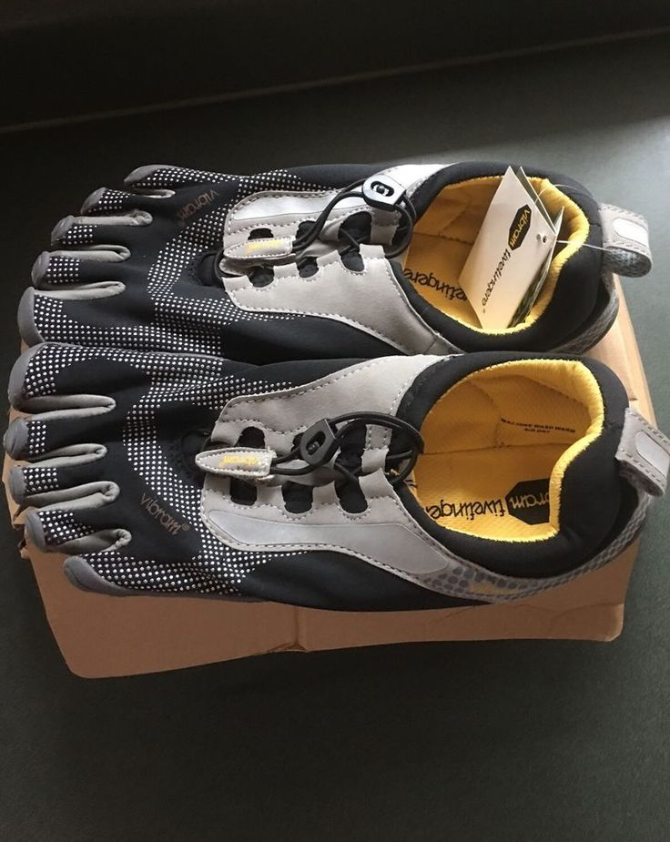 Men's Vibram Toe Shoes Size 45 (US Size 12!) NWT. BLACK AND GREY with Tie Close  | eBay