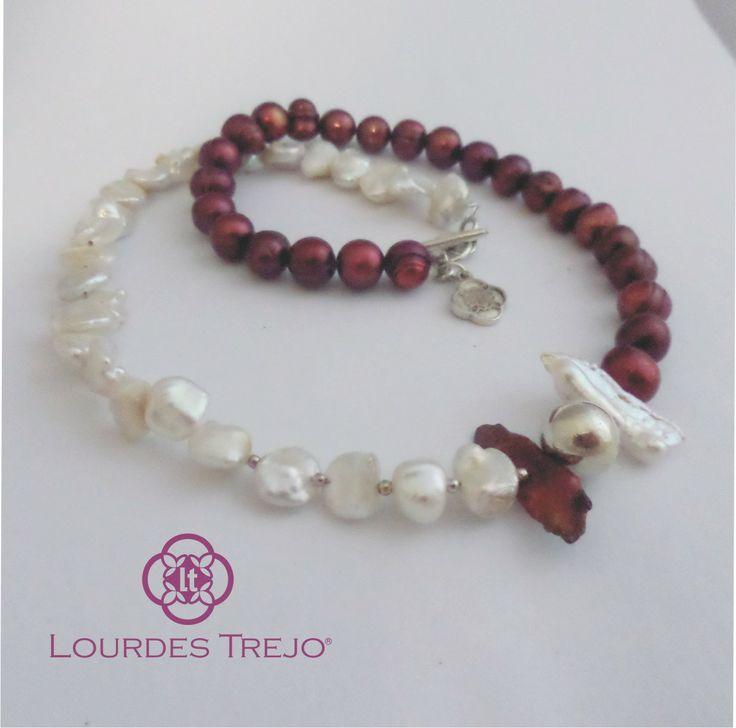 Gargantilla de perla cultivadas y plata 925