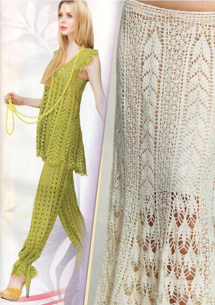 leaves crochet pattern