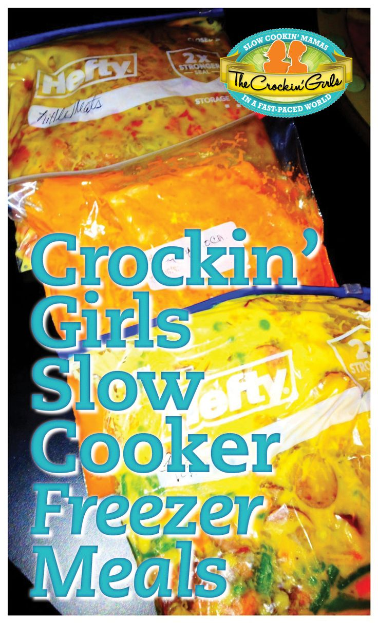 Crockin' Girls slow cooker freezer meals! So simple and delicious. http://www.crockingirls.com/recipes-category/freezer-meals/