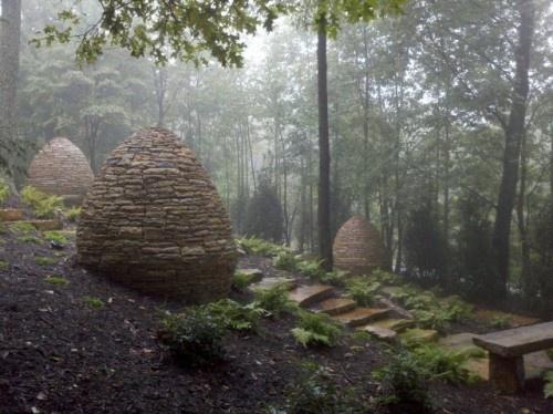 Natural sculpture: Collins Group, Stacking Stones, Meditation Gardens, The Hobbit, Hobbit Home, Rocks Formations, Hobbit Houses, Stones Sculpture, Modern Landscape