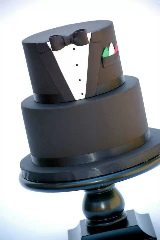 Grooms Wedding Cake ... Please try our new #carouselboxes / #treatboxes. They come in 10 awesome colors and can hold cookies, donuts, cupcakes, treats, gifts ... http://www.betterbakersbox.com/carousel-boxes.html