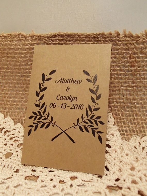Custom Seed Packet Envelope FavourFill Your Own DIY Colour Wedding Favour Seeds Wildflowers Daisies Herbs Flower