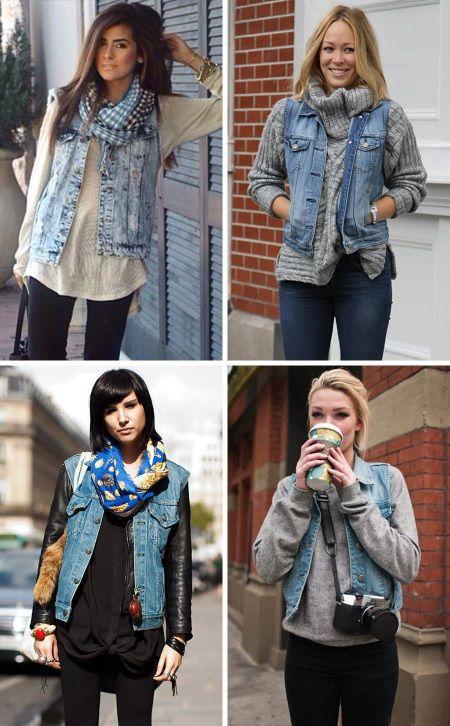Джинсовые жилеты и безрукавки (67 фото): женские модели, с чем носить жилетку без рукавов, как украсить своими руками