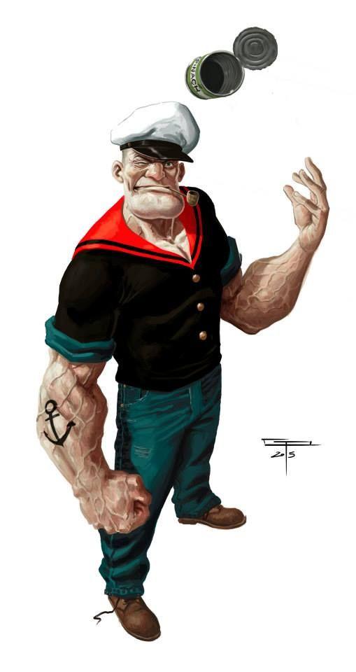 bear1na: Popeye by Germán Peralta *