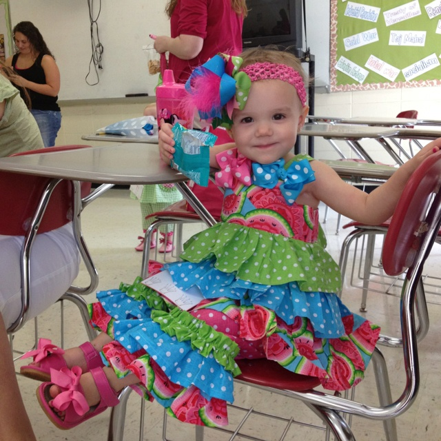 :)   Sara-Beth in another one of One Blessed Mama's outfits and won First Alternate in her pageant :)
