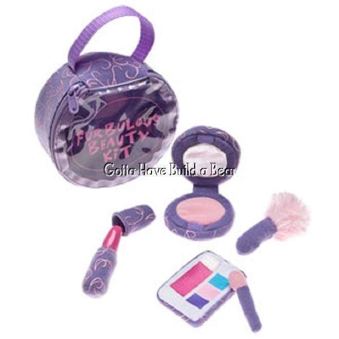 Build a Bear Plush 5 pc Purple Furbulous Beauty Kit Toy Accessory NEW