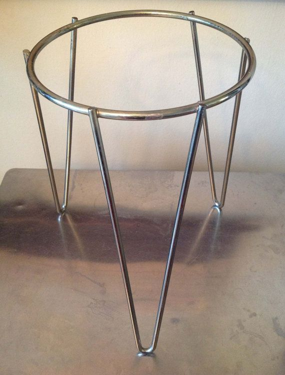 Hairpin Leg Planter Stand Brassy Plant Stands Egg