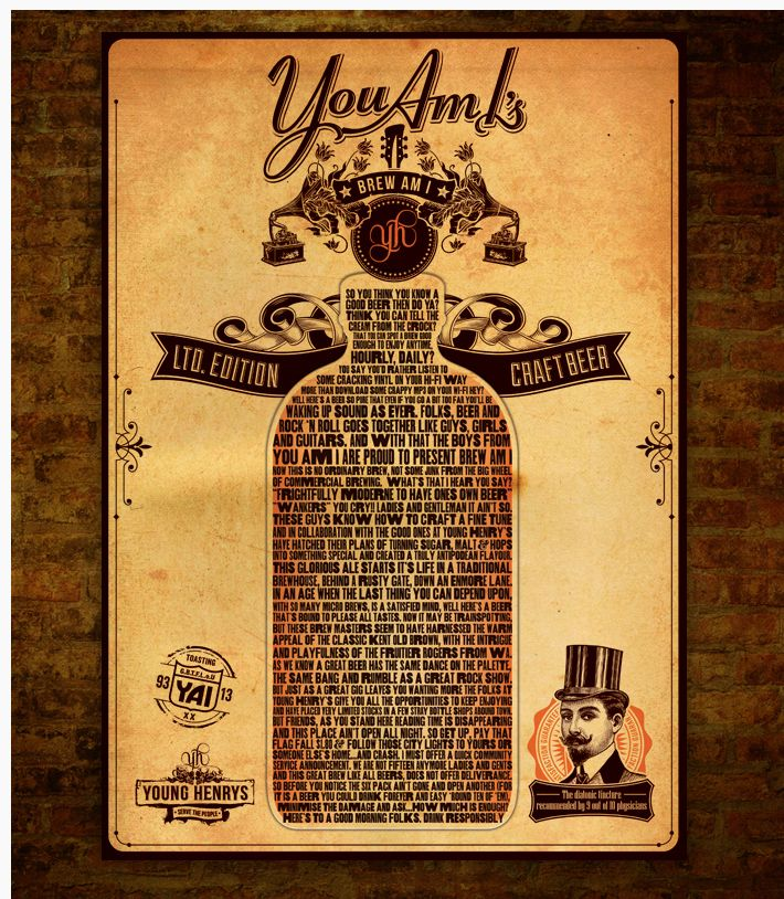 You Am I & Young Henrys - Brew Am I Poster