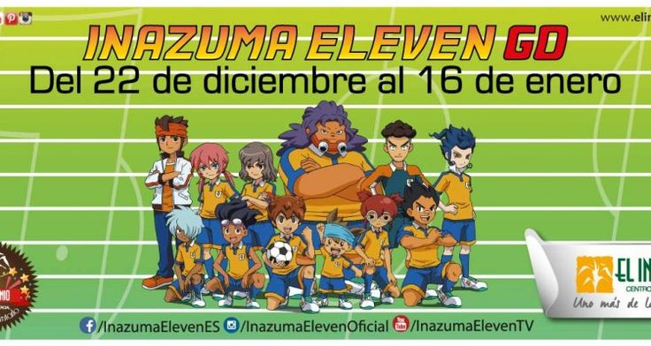 Llega a #ElIngenio el evento infantil Inazuma Eleven - ES, basada en la popular serie emitida por el canal infantil Boing. ¡Cuenta con un campo de juego con portería para poder hacer concursos de puntería, zona multimedia con consolas Nintendo, talleres creativos, zona audiovisual…! Más información en nuestra web