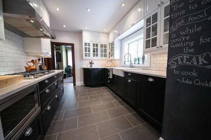 Kitchens, Kitchen Floor Tiles, Light Cabinets, Cabinets Dark, Kitchen