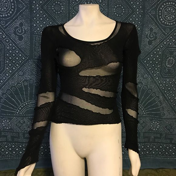 LIP SERVICE Zombie Mesh shirt - all black