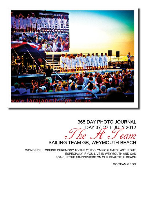 Day 37  opening of the 2012 olympic games  Weymouth beach  GB sailing team