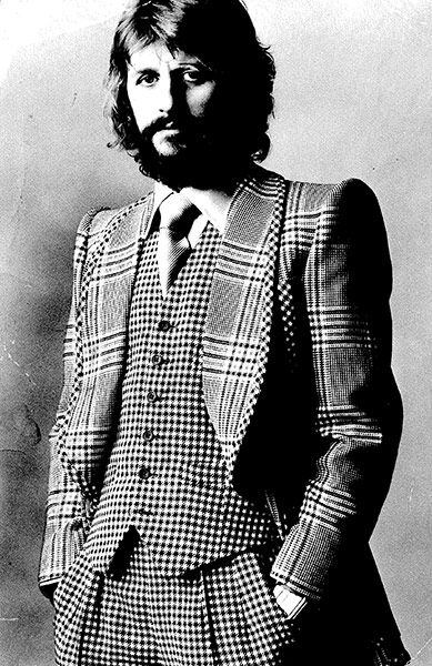 Ringo Starr wearing Tommy Nutter   Really can you believe how he is dressed?