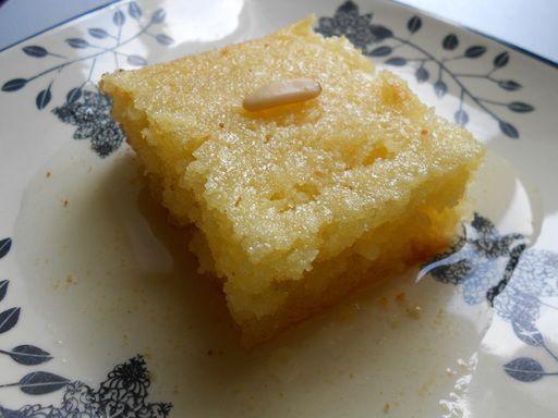 Recette de Gâteau de semoule libanais à la rose (namoura)