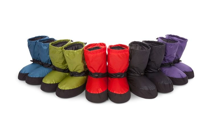 Feathered Friends Down Booties, Shell: Pertex Endurance, Foam Insoles, 850FP-56g, 132g, $89