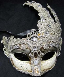Brazilian Swan Macrame Mask for $52