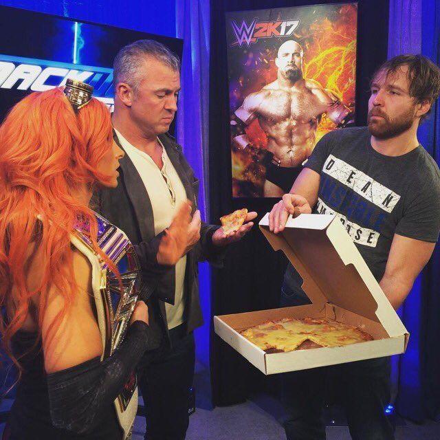 Dean Ambrose, Shane McMahon, Becky Lynch