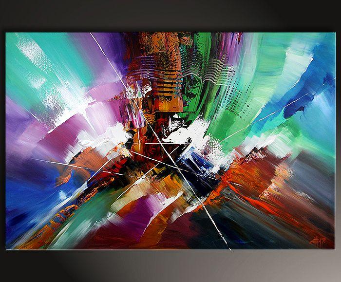original auf leinwand abstrakt zeitgenossische kunst von dieu looking back inspire art galerie fur abstrakte abstract canvas wandbilder wohnzimmer