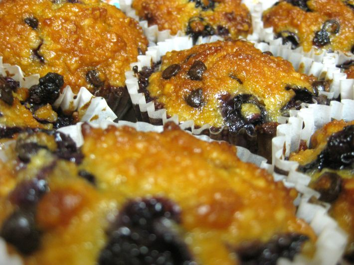 Better than the real thing paleo blueberry muffins, does not need chocolate! A local honey with a floral undertone does wonders here!