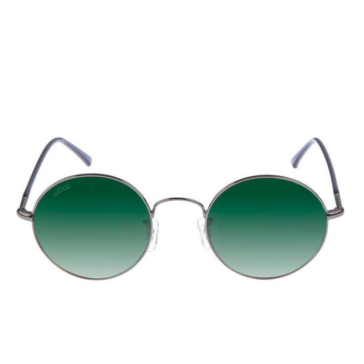 Urban Classics Flower ronde zonnebril metaal/groen - Urban Classics |