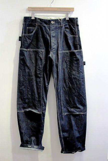 Painter's indigo pants by Engineered Garments.
