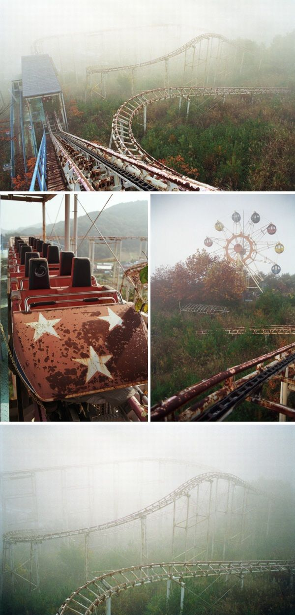 amusement park in Japan. this abandoned amusement park is in the Fukushima Prefecture of Japan, the area worst hit by the recent earthquake and nuclear disaster.