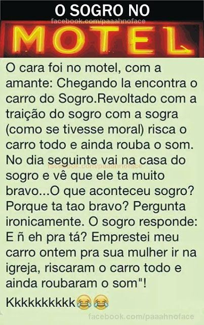 Piada do sogro no motel