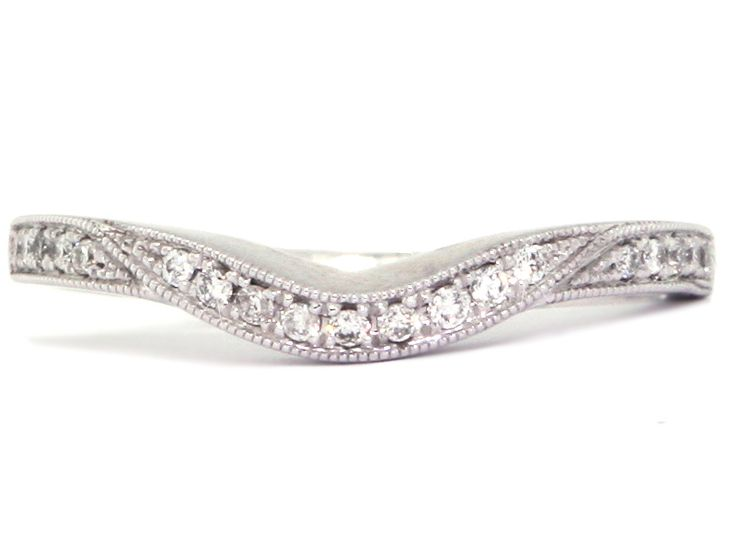 Platinum Diamond Curved Wedding Band x 2 just in case i ever married