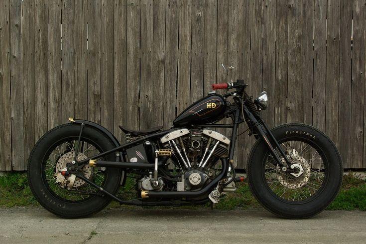 Harley davidson bobber motorcycle bobbers pinterest - Old school harley davidson wallpaper ...