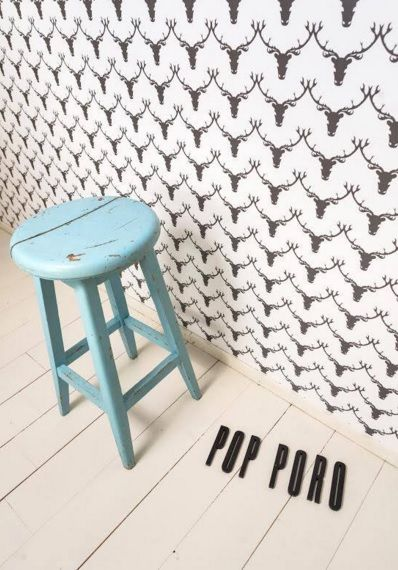 "Love this too! Finnish Design House Oy Hellapuu wallpaper ""Pop Poro"" :)"