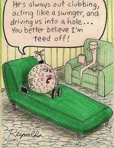 Funny golf cartoon! #golf #funny #cartoons