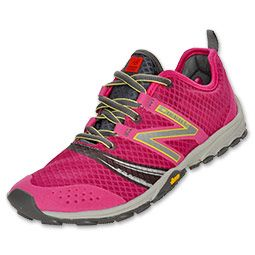 The New Balance WT20 Minimus Women's Trail Running Shoes help you get the most out of your run. The trail shoes offer the very minimum in athletic shoes but in a good way. The lightweight mesh upper keeps you light on your feet yet the synthetic overlays offer protection. Get a personalized fit with the lace-up front. An ACTEVA cushioned midsole gives you support for a long trek while a Vibram outsole provides superior traction and durability.