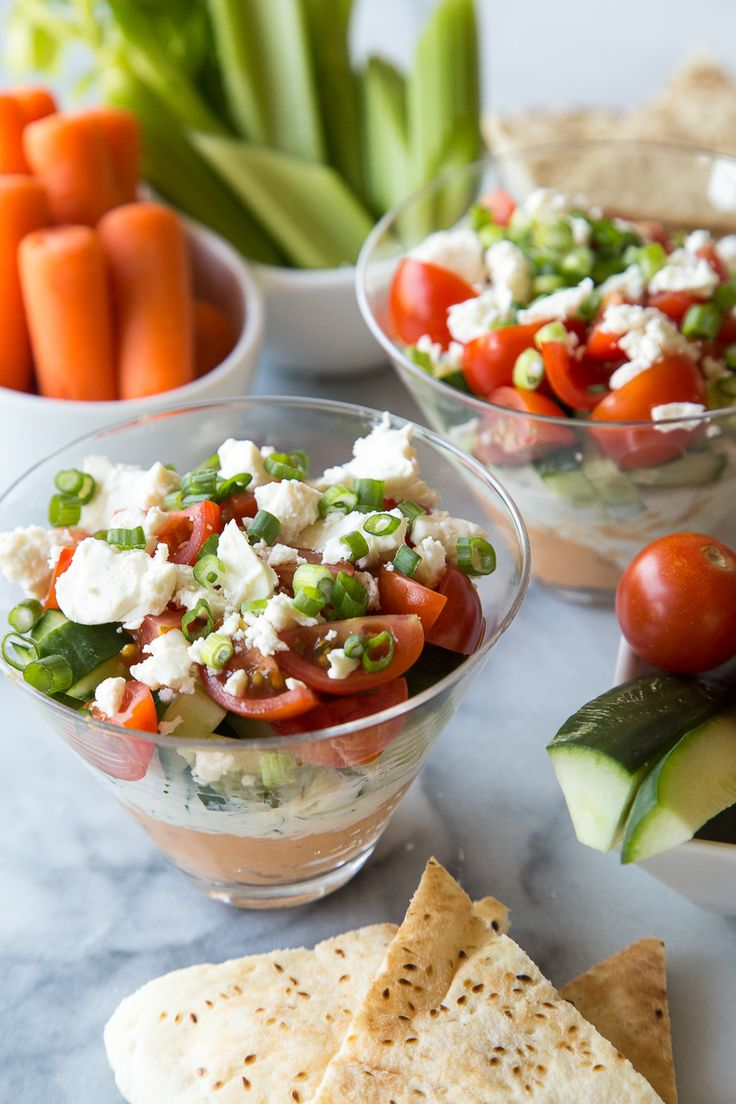 5 Layer Mediterranean Dip is one of my favorite quick and easy appetizer ideas!