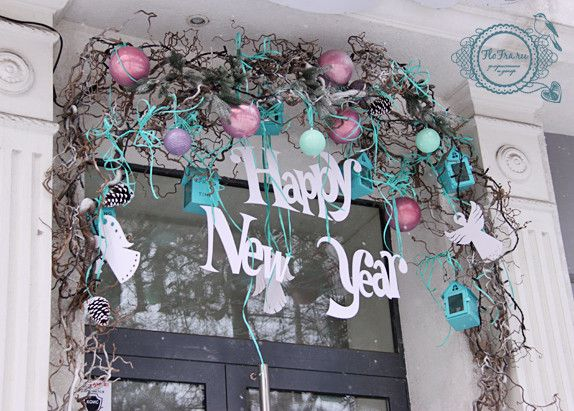 витрина новый год украшение дизайн флористика цветы кемерово дизайн интерьер ваза www.flofra.ru.jpg 24