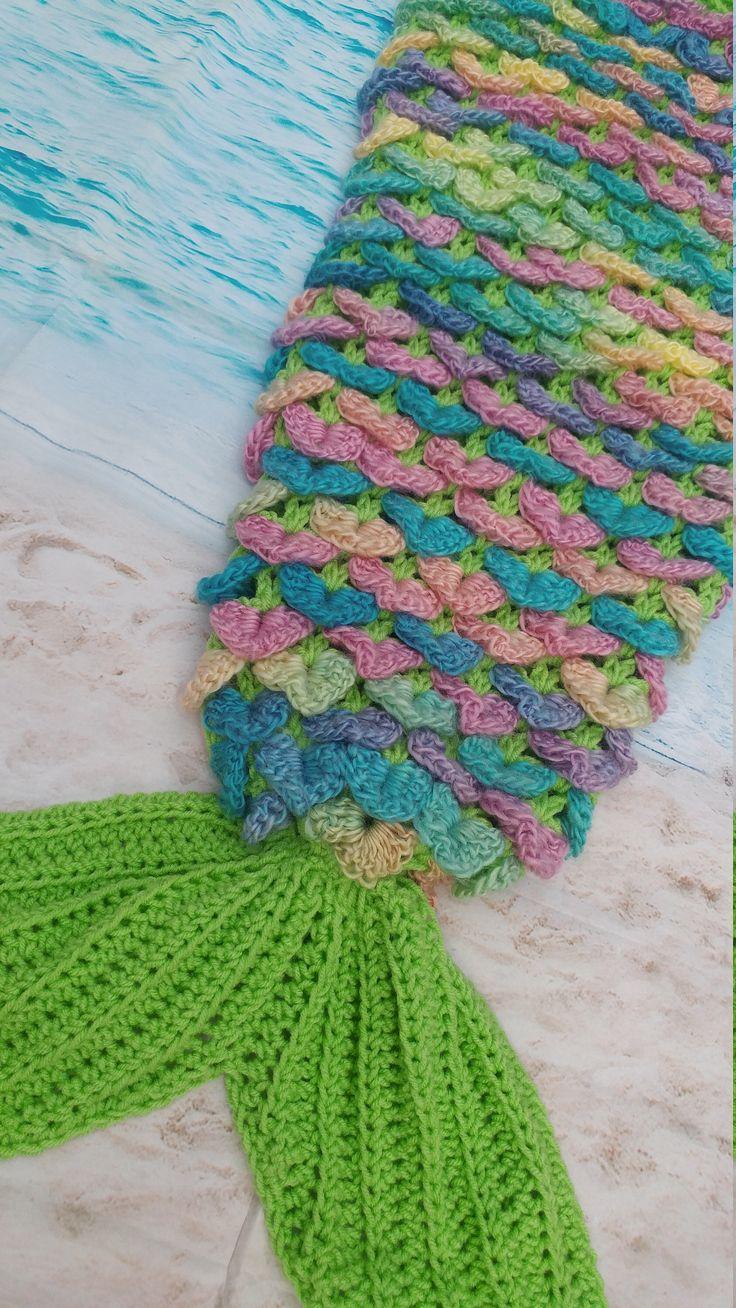Mejores 109 imágenes de Mermaid blanket en Pinterest | Colas de ...