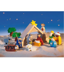 #christmas #haba - I like a nativity scene that can be played with