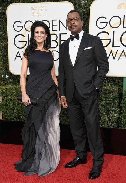 Actors Christine Kludjian and Carl Weathers attend the 74th Annual Golden Globe Awards at The Beverly Hilton Hotel on January 8, 2017 in Beverly Hills, California.