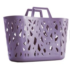 Ultra-versatile Anasazi basket for shopping and at home, open-work side panels inspired by nature.