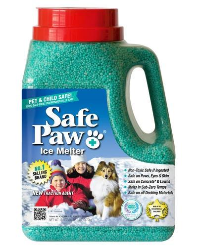Pet-friendly products: Safe Paw ice melt jug