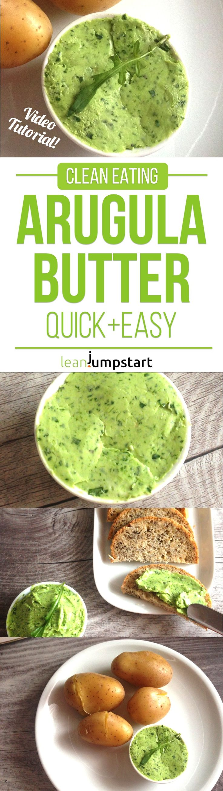 arugula butter: check out this yummy clean eating spread on video!