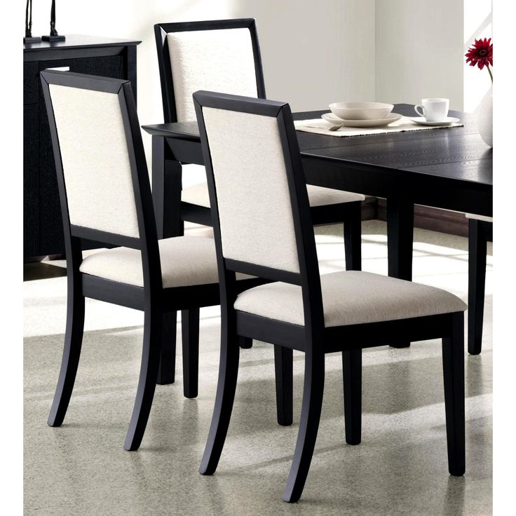 Features A Solid Wood Construction And Clean Crisp Lines, Chair Frame Is  Bathed In Deep. Black Dining ...