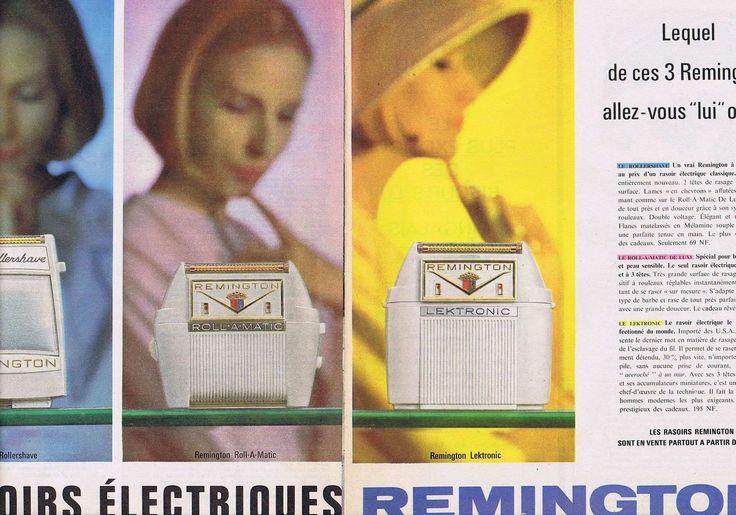 Publicite Advertising 015 1962 Remington LES Rasoirs Électriques 2 Pages | eBay
