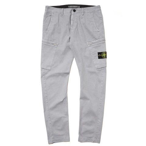 Stone Island Garment Dyed Slim Zip Cargo Pants