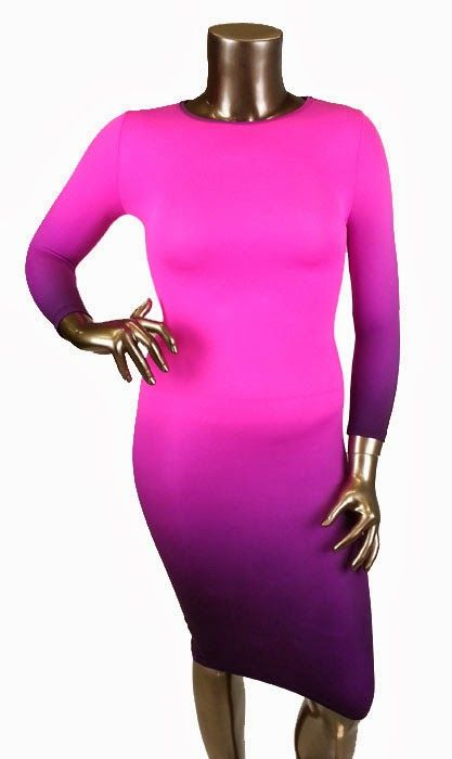 Robe ombrée rose et mauve Disponible en tailles 1x, 2x et 3x Prix: 60$ (ATTENTION: robe faite très petite) Pink and purple ombré dress Available in sizes 1x, 2x and 3x Price: 60$ (BE CAREFUL: dress runs very small)