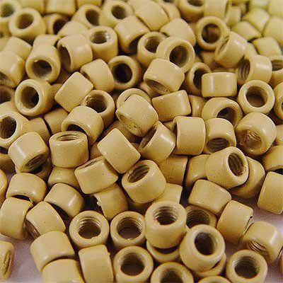 250 PCS 4 mm Blond Color Screw Thread Micro Ring Beads Locks for I Tip Stick Feather Human Hair Extensions by Hair Extension Accessories. $5.90. Quantity: 250 pcs. Type: Screw Thread Micro Rings. Size: 4mm diameter. Length: 3mm. Color: Blond. The rings are flexible soft metal with a coating of color. These rings feature a grooved inside, like a screw. Screw thread/Groove Micro Rings also known as Links or extend tubes Micro Links for used with stick shape/I-shape Pre Bonded exte...