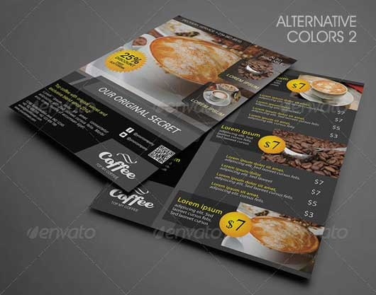 Restaurant and Food Menu Flyer