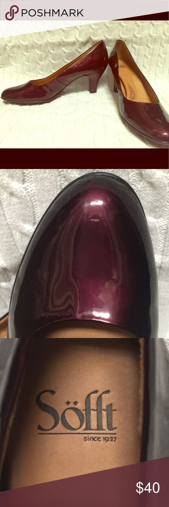 Sofft Lima pump is Chianti Patent sz 12 never worn A classic, sophisticated style with comfortable softness that you will have to feel to believe is what comes with the Sofft Women Lima Pump! This classic pump comes in glossy patent leather to fit your style preference. A latex foam footbed provides amazing cushioned comfort as you walk, while the polyurethane outsole and steel shank offers superior stability and support each step. The Chianti patent color is not your boring black yet…