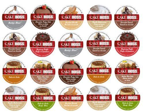 20-count K-cup for Keurig Brewers Coffee Variety Pack Featuring Cake Boss® Coffee Sampler Cups Including Hazelnut Biscotti, Raspberry Truffle, Italian Rum Cake, Vanilla Buttercream, Chocolate Canoli, Chocolate Fudge Cake, and Dulce de Leche Flavored Cups - http://teacoffeestore.com/20-count-k-cup-for-keurig-brewers-coffee-variety-pack-featuring-cake-boss-coffee-sampler-cups-including-hazelnut-biscotti-raspberry-truffle-italian-rum-cake-vanilla-buttercream-chocolate-can/