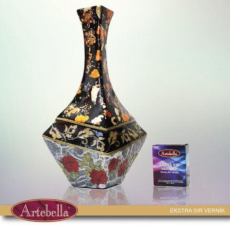 Sararmayan, dayanıklı ve parlak dokular Artebella sır vernik ile.